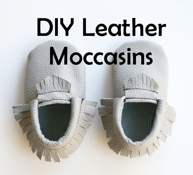DIY Leather Moccasins