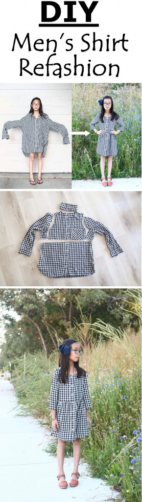 Men's shirt refashion DIY