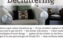 What I've Learned about Decluttering