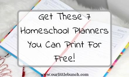 Get These 7 Homeschool Planners You Can Print For Free!