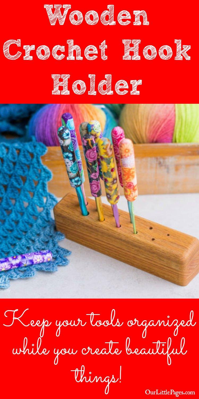 Wooden Crochet Hook Holder