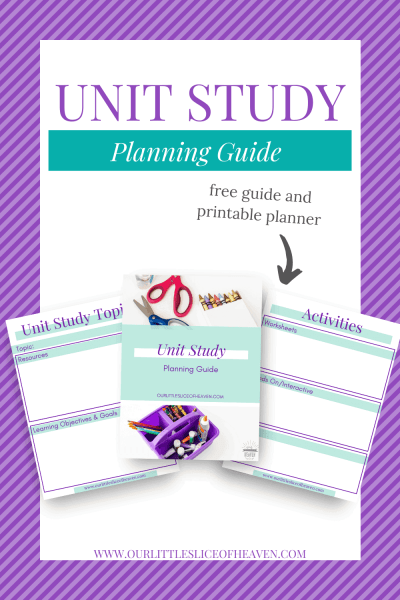 UNIT STUDY PLANNING GUIDE