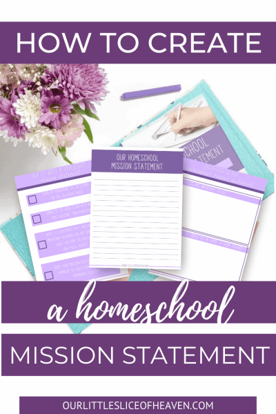 homeschool mission statement