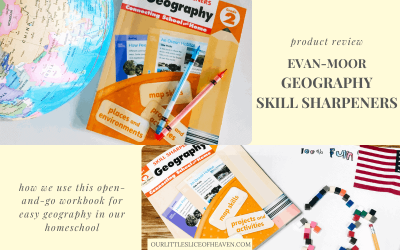 Evan-Moor Geography Skill Sharpeners product review for homeschool