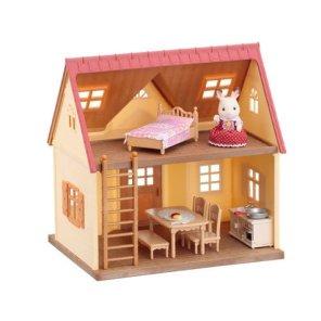 sylvanian families starters hytter med dukke tilbehør møbler our little toyshop