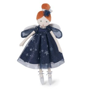 Moulin Roty feen celeste lille blå fe kludedukke dukke fe our little toyshop