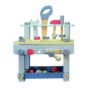 lille arbejdsbænk værktøjsbænk med værktøj everearth our Little toyshop