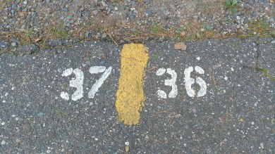 """Site numbers are great on the road, after you are parked already and notice them. All of the traditional numbers were on the """"backside"""" of the site."""
