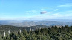 Southern view from Clingmans Dome visitor area