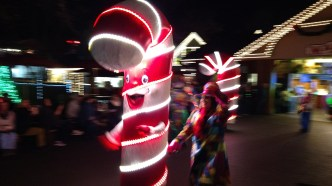Dancing Candy Cane in the Parade of Many Colors at Dollywood