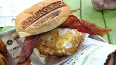 BugerFi Breakfast Burger at Rollins College, Winterfest, FL