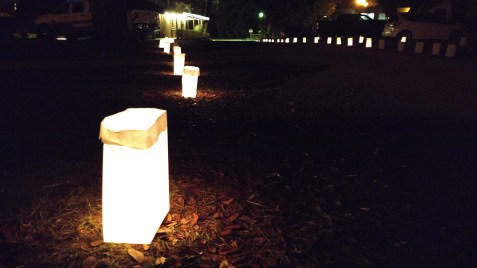 Luminaries before Christmas at Sumter Oaks RV Park, Bushnell, FL 2017