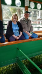 Luanne and Bruce on Glass Bottom Boat at Silver Springs