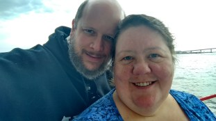 Jason & Barb on the Lady Dolphin of Daytona Boat