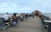 The Tiki Bar at the end of the Cocoa Beach Pier, Florida