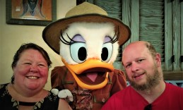 Daisy Duck, Barb and Jason at the Animal Kingdom Tuckers House Character Dinner, February 8, 2018