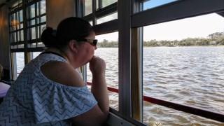 Deina enjoying the views of Daytona from the Halifax River Dinner and Cruise