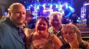 Visiting from Wisconsin our friends Mark and Katrina at the Disney on Broadway Concert Series, February 5, 2018