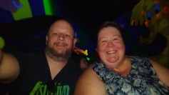Heffalumps, Woozles, Jason and Barb on our last night at Magic Kingdom