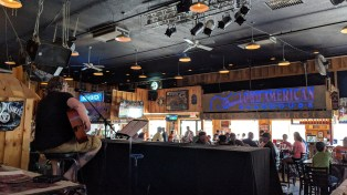 Live music on Saturday during the brunch when we were at Loud American Roadhouse in Sturgis, SD