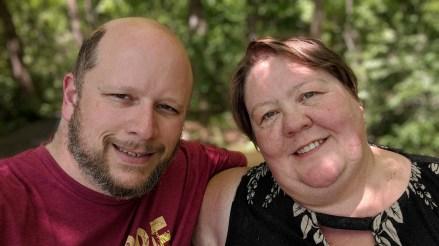Jason & Barb at the Highland Ridge Campground Overlook