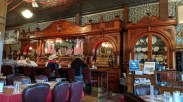 """The """"historic"""" bar from England in the Irma Hotel restaurant"""