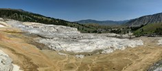 Large flowage of the Mammoth Springs upper areas