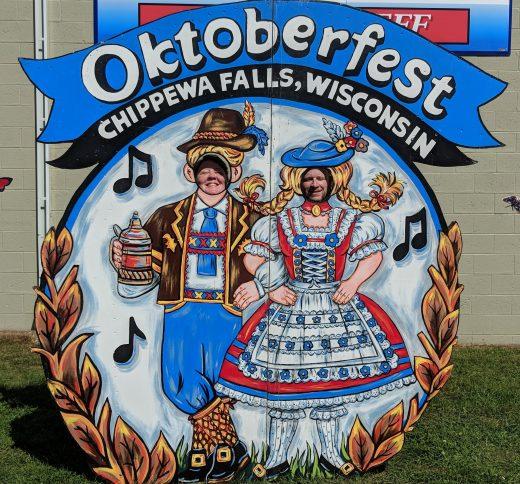 Barb and Jason at Oktoberfest in Chippewa Falls, Wi