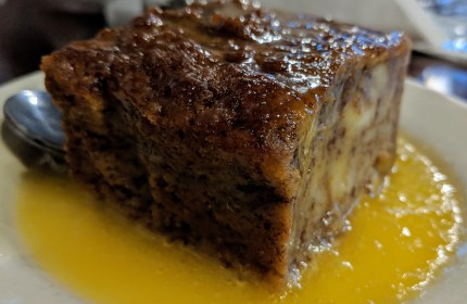 """In the """"under the hill"""" district, Magnolia Grill and their dense whiskey butter covered bread pudding"""
