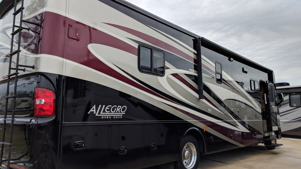 We continue to check out options, including this Allegro Open Road class A. However, we just find they are too big and just more than we rally need.