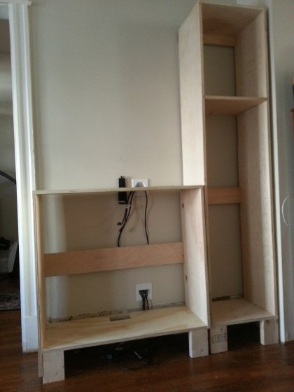 entertainment center cabinet box
