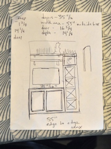 entertainment center sketches
