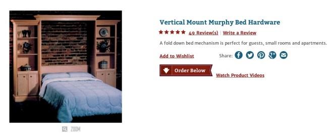 rockler murphy bed
