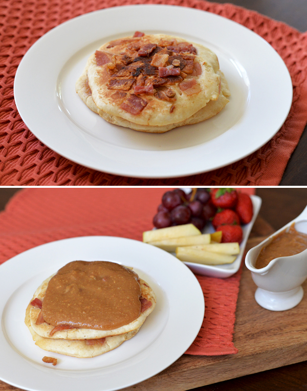 Peanut Butter Maple Syrup Bacon Pancakes (5)