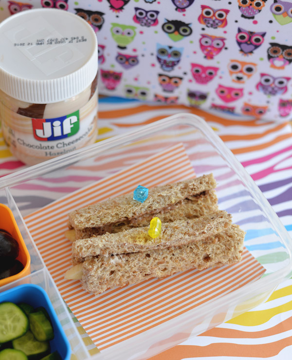 Jif Chocolate Cheesecake Hazelnut Spread Kids lunch snack idea 2