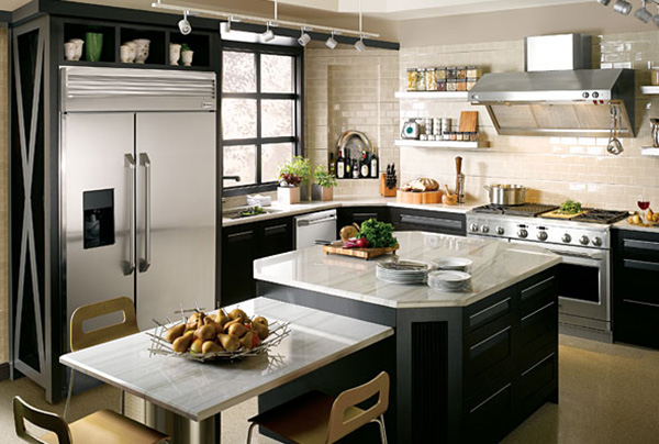 ge kitchen appliances top of the line modern