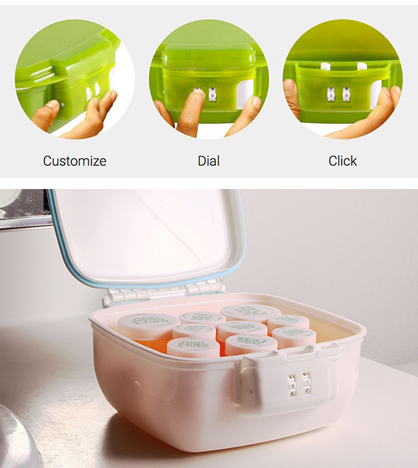 The New Airtight Storage & Lockable Food Container With Built-in Simple 2 Digit Lock