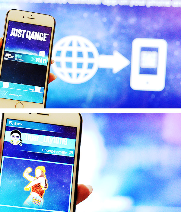 Ubisoft Just Dance 2016 Mobile App connecting Wifi