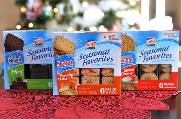 lance snack seasonal favorites crackers cookies pumpkin mint creme snacks lunch ideas