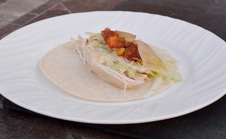 Easy chicken taco with leftover chicken
