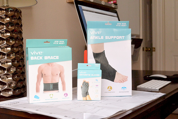 vive health products ankle support arthritis gloves back brace
