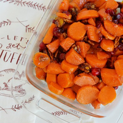 Pass The Giving – Mandarin Cranberry Candied Yams