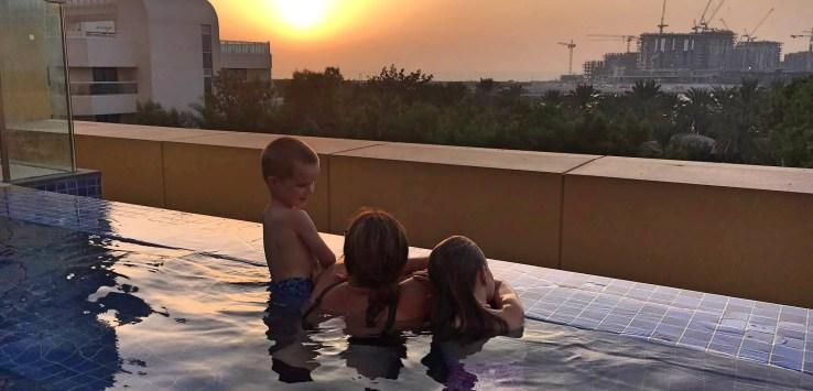 Dubai sunset from the JA Hotel
