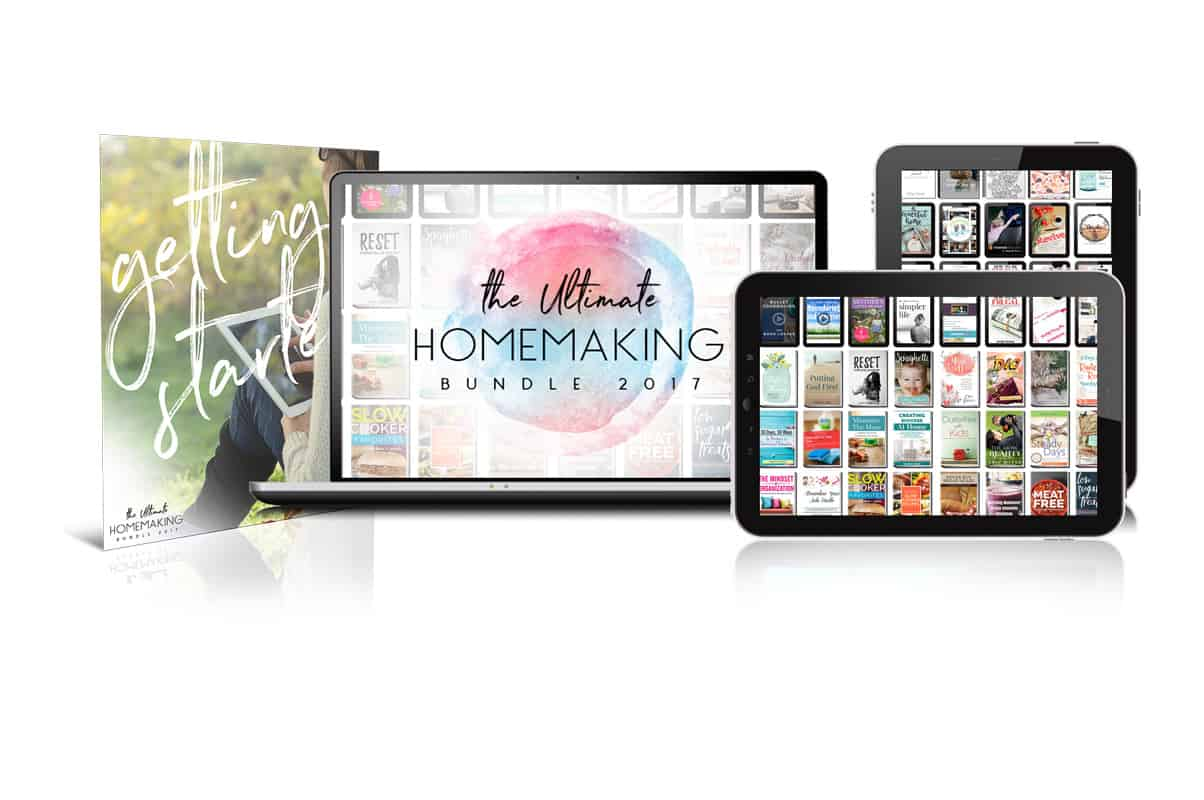 Do you love a good deal? The Ultimate Homemaking Bundle is an amazing value with tons of homemaking resources for under $30! Offer ends May 1, 2017. Ultimate Bundle   Homemaking Resources   e-books