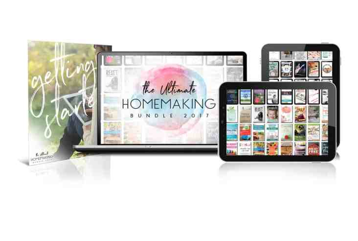 Do you love a good deal? The Ultimate Homemaking Bundle is an amazing value with tons of homemaking resources for under $30! Offer ends May 1, 2017. Ultimate Bundle | Homemaking Resources | e-books