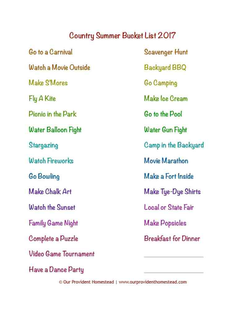 Do you have your summer planned? This family summer bucket list has plenty of activities to keep your kids busy even if you live in the country. Summer Bucket List   Country Kids Activities   Summer Family Activities