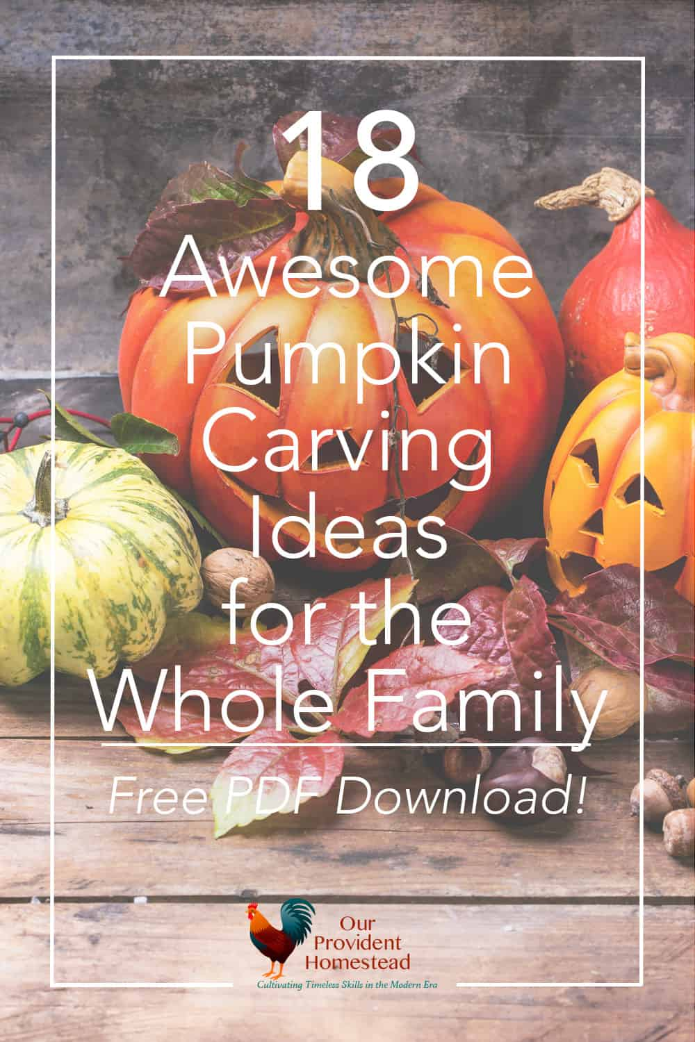 Do you love Halloween! Click here to get 18 awesome pumpkin carving ideas for the whole family and a FREE Printable Pumpkin Carving Ideas PDF. Pumpkin Carving Ideas | Free PDF Download | Fall Family Activities