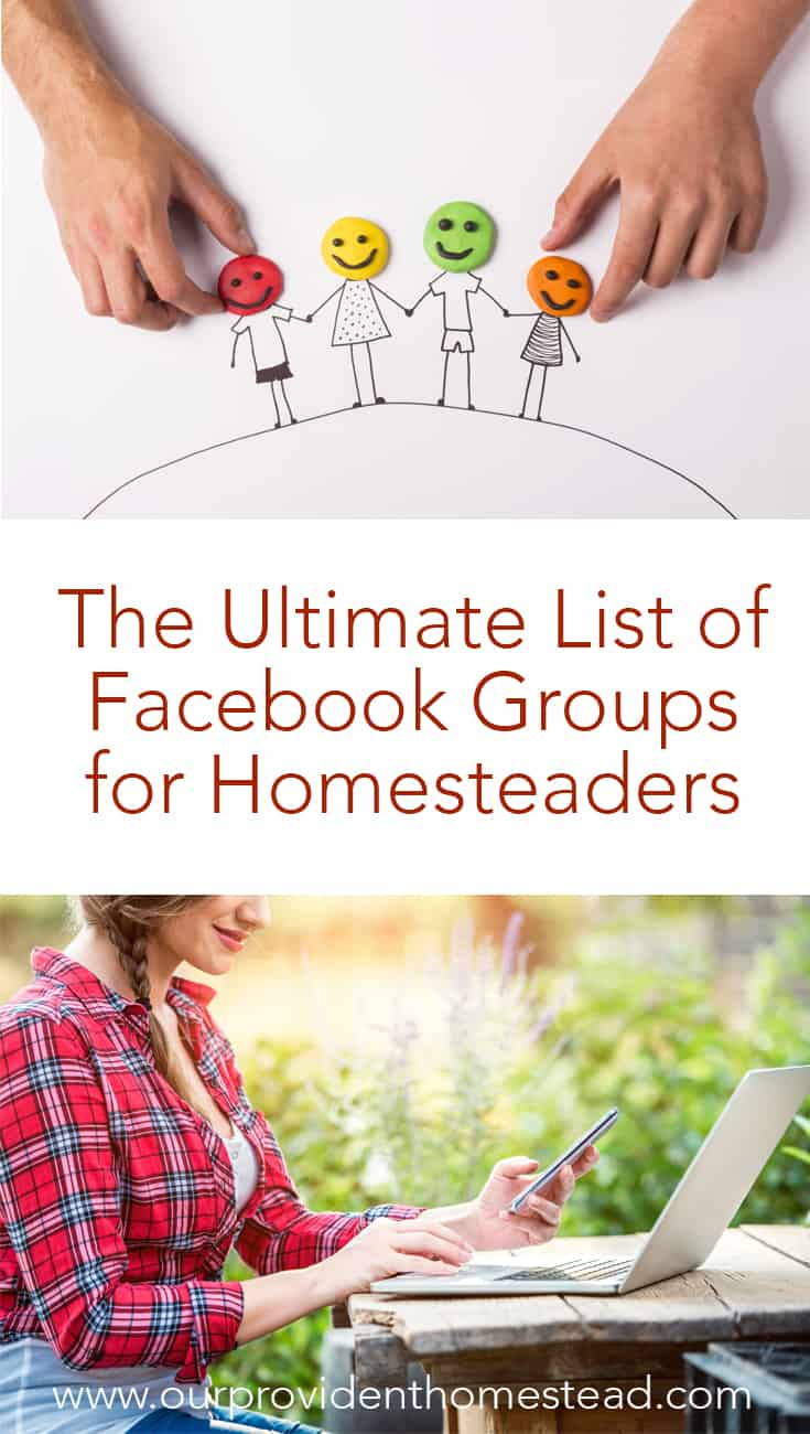 Do you have a Facebook community you love? Click here to see the ultimate list of Facebook groups for homesteaders and find your tribe today. #Facebook #homesteading #homesteadlife #homesteadinglife #homestead