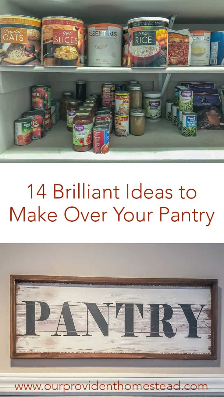 Does your pantry need an overhaul? Click here for 14 brilliant ideas to make over your pantry so your family can find what they need at meal time. #pantry #organization #springcleaning #home #pantryorganization