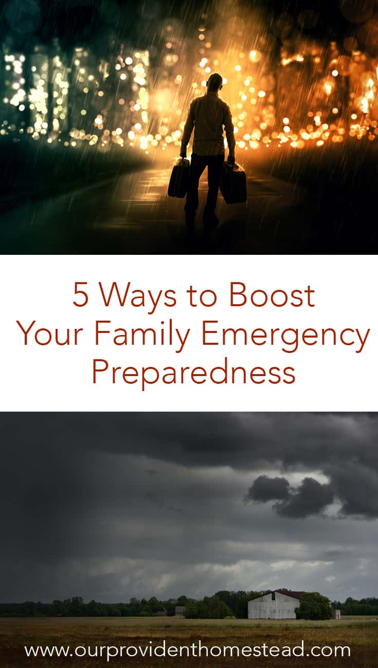 Is your family prepared for an emergency? Click here to see 5 ways to boost your family emergency preparedness and keep your family safe during crisis. #survival #survivaltips #emergencypreparedness #SHTF